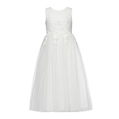 RJR.John Rocha - Girls' ivory bead embellished lace dress