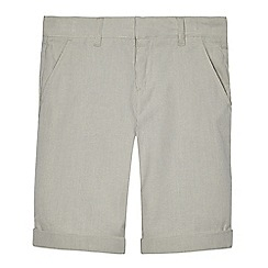 RJR.John Rocha - Boys' grey pinstripe shorts