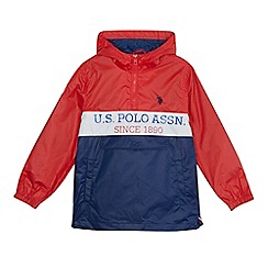 U.S. Polo Assn. - Boys' red and navy jacket