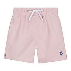 U.S. Polo Assn. - Boys' pink swim shorts