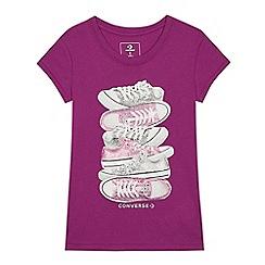 Converse - Kids' Pink Sneaker Print T-shirt