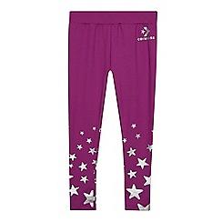 Converse - Kids' Purple Star Print Leggings