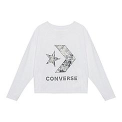 Converse - Kids' White Logo Print Top