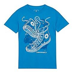 Converse - Kids' blue sneaker print t-shirt