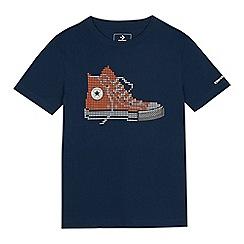 Converse - Kids' Navy Pixel Check T-shirt