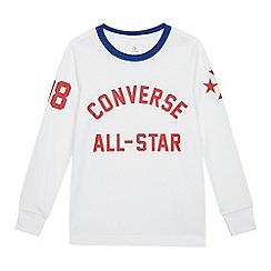 Converse - Kids' White Logo Print T-shirt