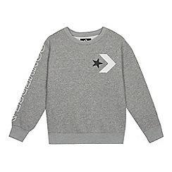 Converse - Kids' Grey Logo Print Sweater