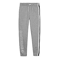 Converse - Kids' Grey Striped Trim Jogging Bottoms