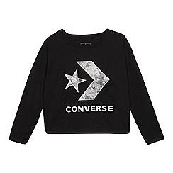 Converse - Kids' Black Logo Print Top