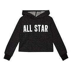 dbd26c30feac Converse - Kids  Black  All Star  Print Cropped Hoodie