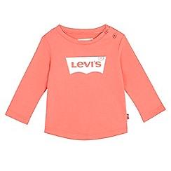 Levi's - Babies' coral logo print t-shirt