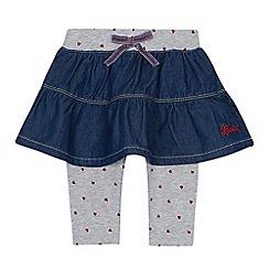 Levi's - Baby girls' blue pleated skirt leggings