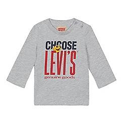 Levi's - Baby boys' grey 'Choose Levi's' print t-shirt