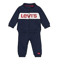 Levi's - Babies' navy logo print joggers set