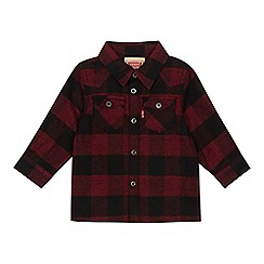 Levi's - Baby boys' red checked long sleeve shirt