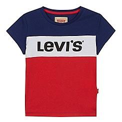 Levi's - Kids' multicolored colour block logo print t-shirt