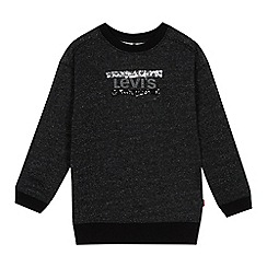 Levi's - Kids' black sequinned logo sweatshirt