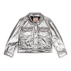 Levi's - Kids' silver metallic trucker jacket
