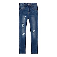 Levi's - Girls' blue '711' distressed mid wash skinny jeans