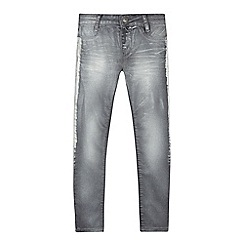 Levi's - Girls' grey shimmer '710' super skinny jeans