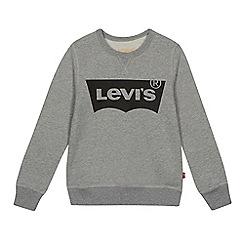 Levi's - Boys' grey logo print sweatshirt