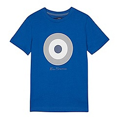 Ben Sherman - Kids' blue target logo print cotton t-shirt