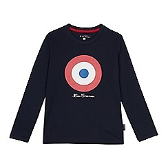 Ben Sherman - Kids' navy target logo print cotton top