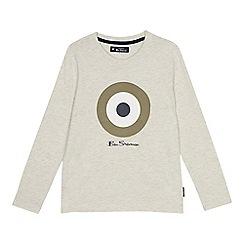 Ben Sherman - Kids' cream target print t-shirt