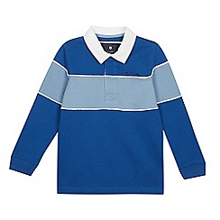 Ben Sherman - Boys' Blue Colour Block Yoke Rugby Top