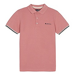 Ben Sherman - Kids' pink tipped polo shirt