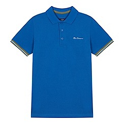 Ben Sherman - Boys' blue tipped polo shirt