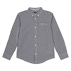 Ben Sherman - Kids' navy gingham check shirt
