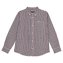 Ben Sherman - Kids' red gingham check shirt