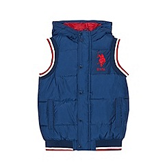 U.S. Polo Assn. - Boys' navy quilted gilet