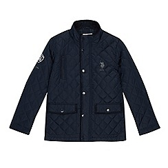 U.S. Polo Assn. - Boys' navy quilted jacket