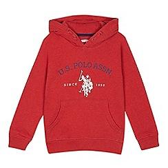 U.S. Polo Assn. - Kids' red logo print hoodie