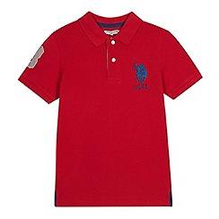 U.S. Polo Assn. - Kids' red cotton polo shirt