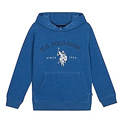 U.S. Polo Assn. - Boys' blue logo print hoodie