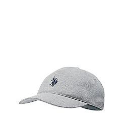 U.S. Polo Assn. - Kids' grey logo embroidered baseball cap