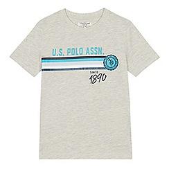 U.S. Polo Assn. - Boys' white logo print t-shirt