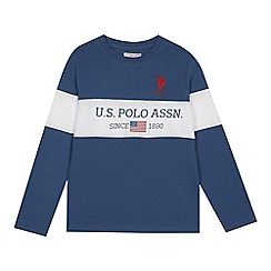 U.S. Polo Assn. - Kids' blue logo embroidered top