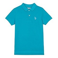 U.S. Polo Assn. - Boys' light turquoise polo shirt
