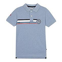 U.S. Polo Assn. - Boys' blue logo print polo shirt