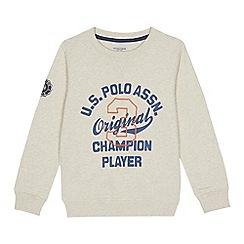 U.S. Polo Assn. - Kids' cream logo print sweater