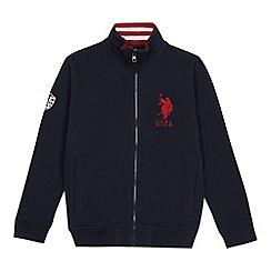 U.S. Polo Assn. - Boy's navy zip through sweatshirt