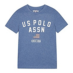 U.S. Polo Assn. - Boys' blue logo print t-shirt