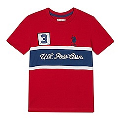 U.S. Polo Assn. - Kids' red logo embroidered t-shirt