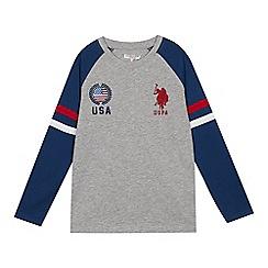 U.S. Polo Assn. - Kids' grey contrast sleeve top