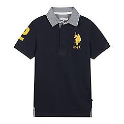U.S. Polo Assn. - Kids' Green Cotton Polo Shirt