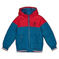 U.S. Polo Assn. - Kids' blue 'Valley' padded coat